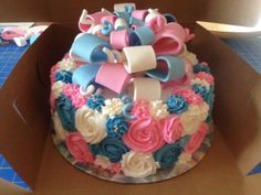 This Was A Surprise Cake For A Baby Gender Reveal Party Inside ...