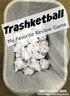 Trashketball: Fun Review Game - keep kids excited and engaged