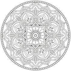 Looking for a Coloriage à Imprimer Mandala Moyen. We have Coloriage à Imprimer Mandala Moyen and the other about Coloriage Imprimer it free. Pattern Coloring Pages, Coloring Book Art, Flower Coloring Pages, Mandala Coloring Pages, Colouring Pages, Printable Coloring Pages, Adult Coloring Pages, Coloring Sheets, Dot Art Painting