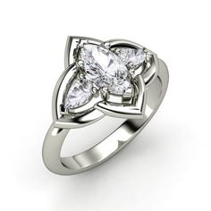 marquise white sapphire 14k white gold ring with white sapphire zada ring lord of