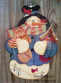 Wall Hanging Snowman