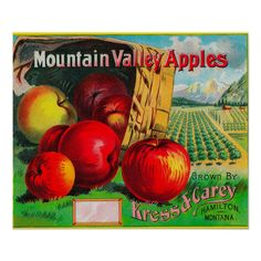 1950s New Jersey Apples cardboard vintage advertising state of New Jersey Produce Farmers Agricultural
