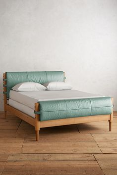Slide View: 1: Premium Leather Rhys Bed