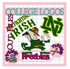 25 Days of College Logos Cut Files! Notre Dame
