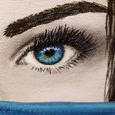 """Free Acrylic Painting Tutorial """"How to Paint EYES"""" by Angela Anderson on YouTube #eyes #realism #acrylicpaint"""