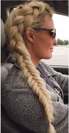 LONG side dutch hair braid