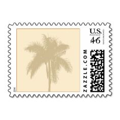 Tropical Custom Background Small Postage