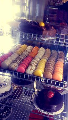 Colorful macarons by Thessaloniki's Tenkerlis