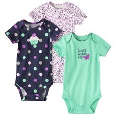 JUST ONE YOU® Made by Carters Infant Girls' 3 Pack Bodysuit - Purple/Navy-target