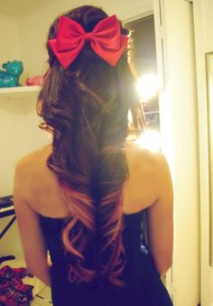 I love her hair and her hair bow . Why can't I have hair like her? Love Hair, Gorgeous Hair, Hello Beautiful, Absolutely Gorgeous, Girly, Dream Hair, About Hair, Up Girl, Hairbows
