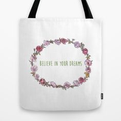 Believe in your dreams - Inspirational Quote + Vintage Illustration Print