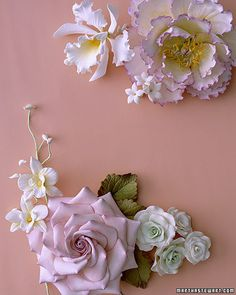 Cakes Decorated With Sugar Flowers - Martha Stewart Weddings Cakes