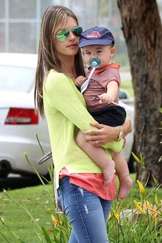 Alessandra Ambrosio held onto her son Noah in LA #picsoftheday