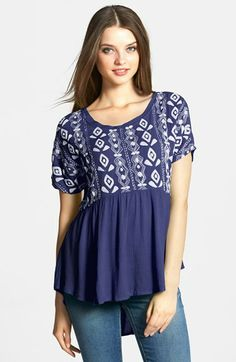 LAmade Embroidered Top available at #Nordstrom