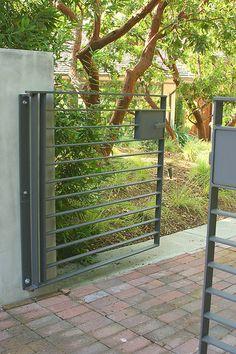 steel front gate - Bernard Trainor