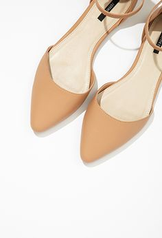 Pointed Ankle-Strap Flats | Forever 21 - 2000076534