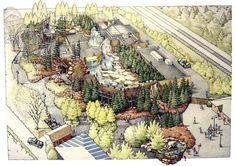 CLRdesign, INC. Toledo Zoo: Arctic Encounter Polar Bear Exhibit. CLR specializes specifically in zoo design.
