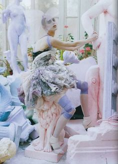 "Alice Gibb and Olga Sherer in ""A Magic World"" for Vogue Italia January 2008 photographed by Tim Walker"