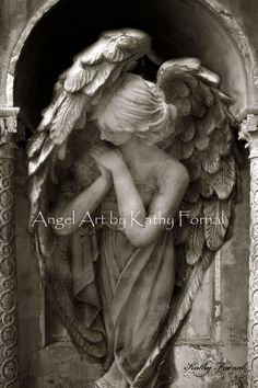 Angel Art Photography, Angel In Prayer, Guardian Angel Art, Dreamy Peaceful Praying Angel, Ethereal Angel Art Photography 8 x 12 on Etsy, $30.00
