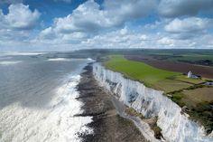 Falésias brancas de Dover - Inglaterra