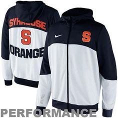 Nike Syracuse Orange Hyper Elite Tournament Warm Up Performance Full Zip Hoodie