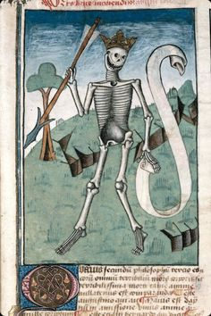It was an era when Death really enjoyed his work. From Ars bene moriendi, France, 1470-1480