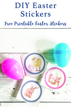 Use this free Easter printable from Everyday Party Magazine to make adorable Easter Stickers to fill your Easter Eggs this year. @Xyron #Sponsored #EasterEgg #Easter #DIYEaster #EasterIdeas