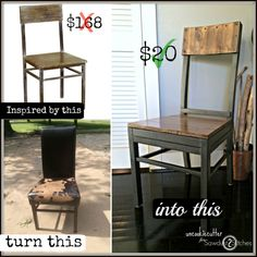 Modern Chair UpCycle - UncookieCutter for Sawdust 2 Stitches