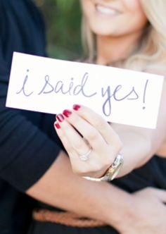 Engagement Photo shoot. Easy prop idea.