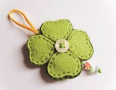 Felt clover ornament good luck gift idea by InspirationalGecko