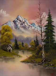 bob ross evenings delight paintings