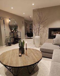 Warm colors and cozy interior design 👌 Nordic Living Room, Classy Living Room, Living Room Decor Cozy, Home Living Room, Bedroom Decor, Home Room Design, Home Interior Design, Living Room Designs, House Design