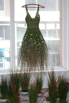 Well, that's one way of having an recyclable dress. How about a compost-able dress