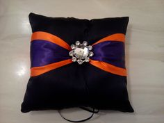 Ring Bearer Pillow.... sort of... minus the purple in the middle and that jewel needs to go.