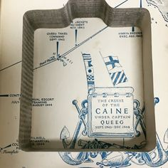 Map illustration- The Caine Mutiny The Caine Mutiny, Book Safe, Flask, Map, Illustration, Books, Instagram, Libros, Location Map
