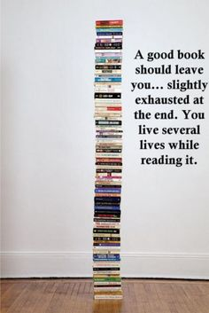 So true... I always take a 15 min break from moving on to my next choice of reading material. Ha! I love living different lives. :)