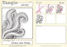 Hairy -BEEZ in the Belfry: Tangle of the Week. Reminds me more of Fishy fins!