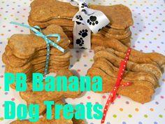 PB Banana Dog Treat Recipe