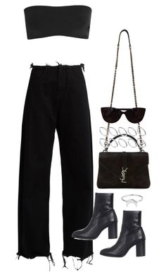 """Untitled #1798"" by breannaflorence on Polyvore featuring Marques'Almeida, Commando, Topshop, Yves Saint Laurent, ASOS, ChloBo and Tiffany & Co."