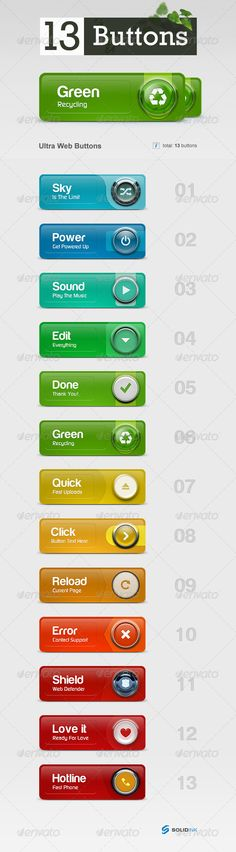 Ultra Web Buttons PSD #design Download: http://graphicriver.net/item/ultra-web-buttons/149796?ref=ksioks