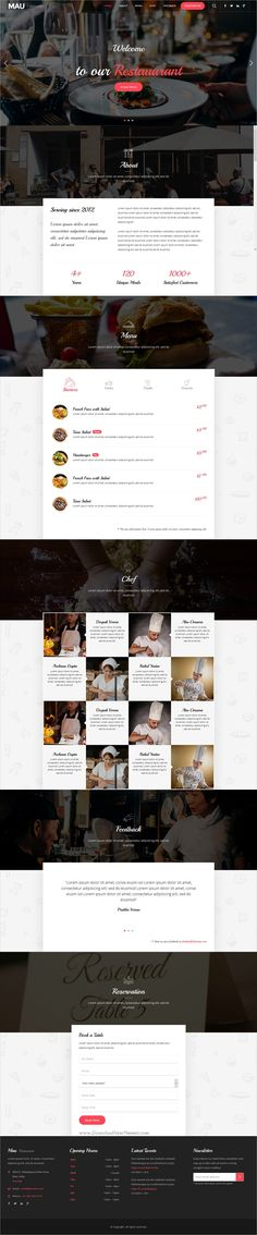 Mau is a powerful multipurpose 11in1 responsive HTML #bootstrap template for #cafe and #restaurant awesome websites download now➩ https://wrapbootstrap.com/theme/mau-multipurpose-html-templates-WB00H2875?ref=datasata