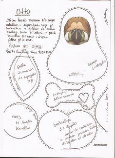 moldes de cachorros  | ... Feltro,Costuras,Fofuchas 3D: PATCHWORK_Molde_Cachorro_peso_de_porta
