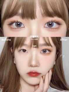 Makeup Korean Style, Korean Natural Makeup, Korean Makeup Tips, Asian Eye Makeup, Makeup Eye Looks, Cute Makeup, Pretty Makeup, Asian Makeup Tutorials, Kawaii Makeup Tutorial