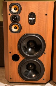 Vintage Bowers and Wilkins 808 speakers