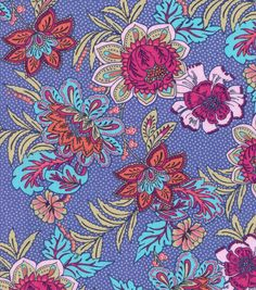 Buttercream™ Olivia Collection Cotton Fabric-Blooming Flowers On Dots