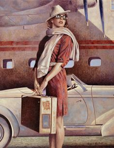 . . . Leaving On A Jet Plane, Don't Know When I'll Be Back Again. . . .~ Painting by Peregrine Heathcote