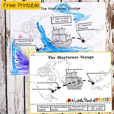 I love Thanksgiving because we can learn about history while celebrating the yummiest holiday of all. Grab a copy of our free printable map showing the famous voyage across the Atlantic that the Pilgrims took in 1620. The map comes in two versions because I like to give you options. The first version has the …