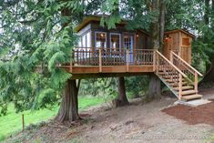 Nelson Treehouse and Supply: The source for custom treehouses, designs, consulting, DIY plans, supplies and vacations. Building An Outhouse, Building A Treehouse, Treehouse Builders, Tree House Plans, Cool Tree Houses, Small Houses, Tree House Designs, Tiny House Cabin, Architecture Details
