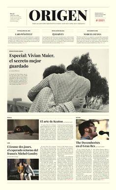 ORIGEN / Periódico - Newspaper by Krysthopher Woods, via Behance