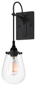 Sonneman 4290.25 Chelsea Satin Black Wall Sconce - contemporary - Wall Sconces - Littman Bros Lighting $180 I love this